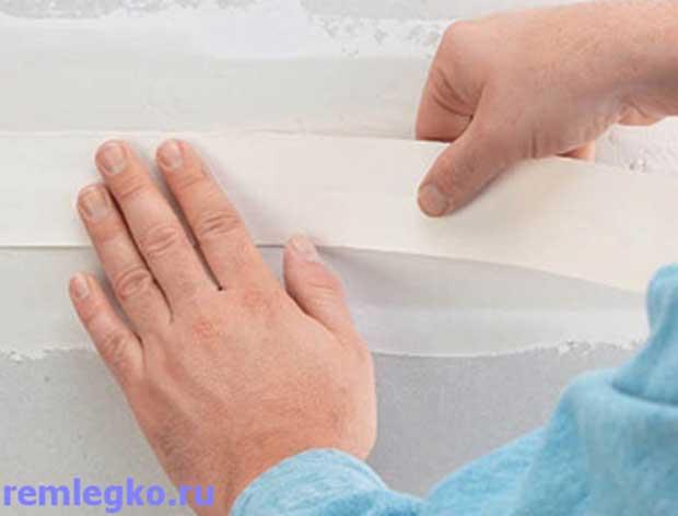 Накладка армирующей ленты