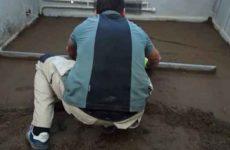 Цементно – песчаная, полусухая стяжка пола