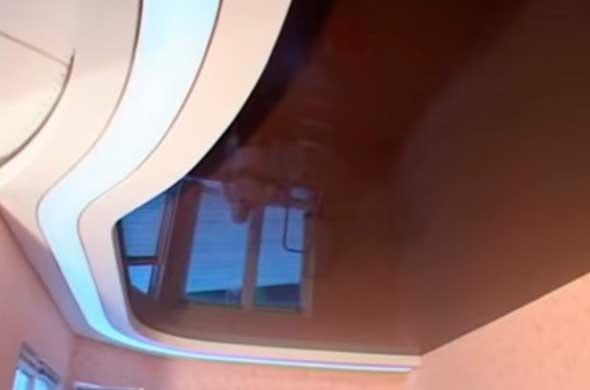 Двухуровневый сложный потолок