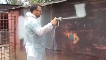 Нанесение теплоизоляционной краски