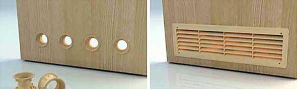 Дверь с вентиляционными отверстиями