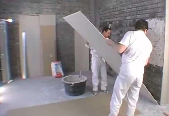 Установка листа на стену