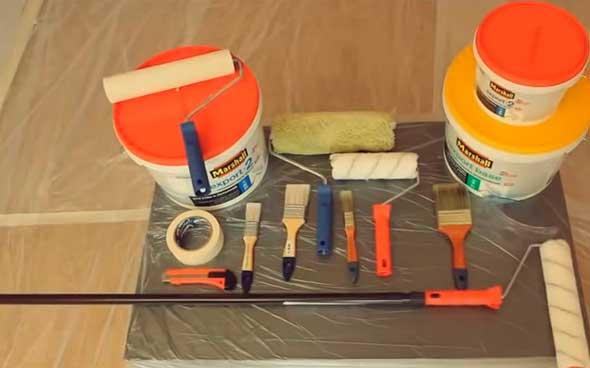 Инструменты и материалы, необходимые для ремонта