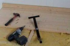 Укладка деревянного пола из массивной доски