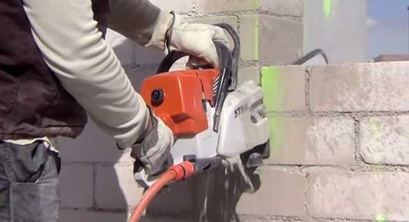 Бензопила по бетону