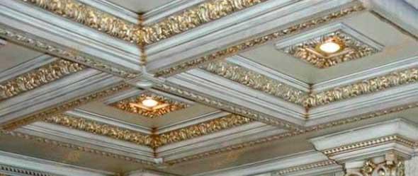 Полиуретановый кессонный потолок