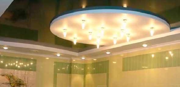 Комбинированный потолок из ГКЛ и ПВХ