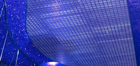 Комбинированный потолок подвесной грильято