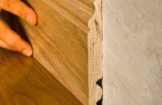 Установка деревянного плинтуса своими руками