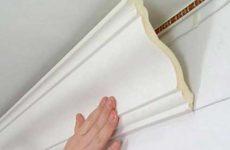 Особенности монтажа потолочного плинтуса из пенополистирола