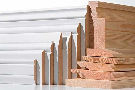 Разнообразие видов деревянных плинтусов
