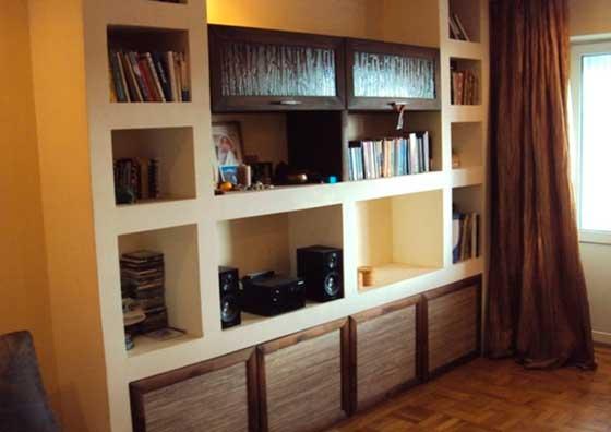 Ниши из гипсокартона вместо мебели