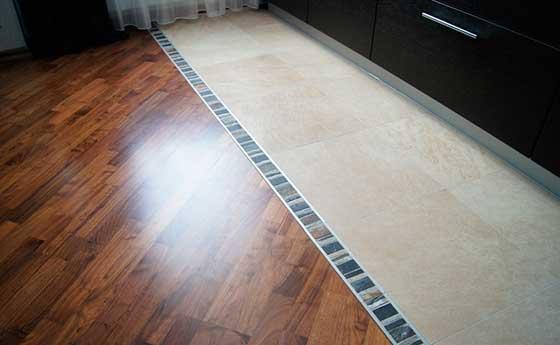 Пример комбинированного напольного покрытия