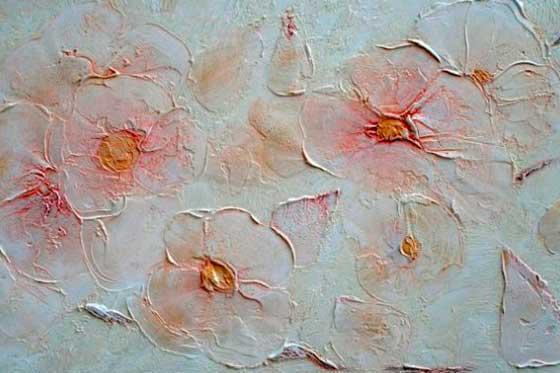 Цветы из фактурной краски