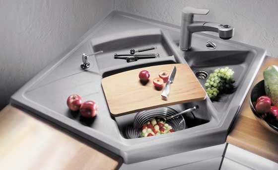Угловая мойка для кухни