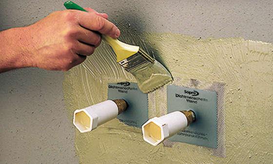 Гидроизоляция для водопроводных труб мастика откосы