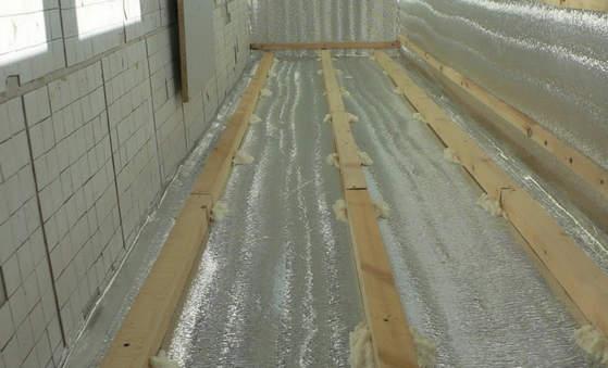 Обрешётка готова к укладке фанеры