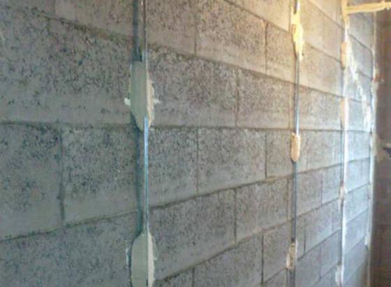 Стена готова к основному этапу работ