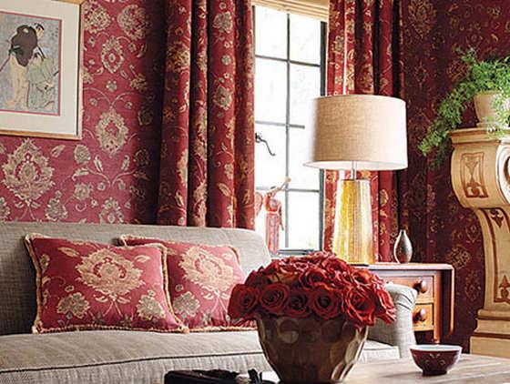 Текстильные обои в интерьере вашей квартиры