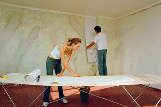 Подготовка полотна к поклейке