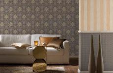 Текстильные обои в интерьере современной квартиры