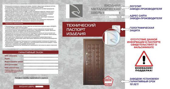Технический паспорт изделия