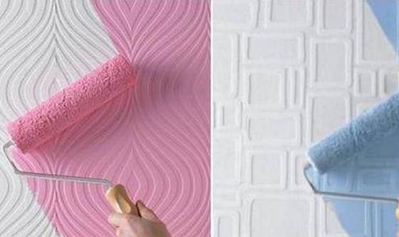 Бумажные обои под покраску