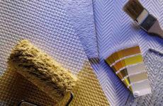 Обои под покраску – обновление интерьера когда угодно