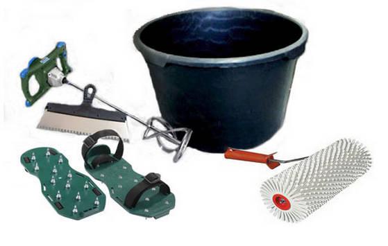 Инструменты и приспособления для устройства 3-D пола