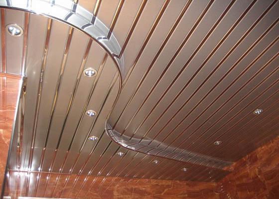 Двухуровневые реечные потолки