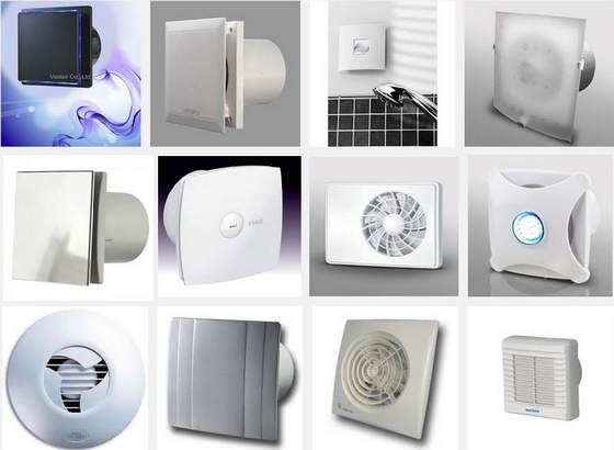 Виды вытяжных вентиляторов для ванной