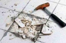 Самостоятельный ремонт керамической плитки на полу