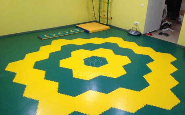 Резиновый пол для детской комнаты