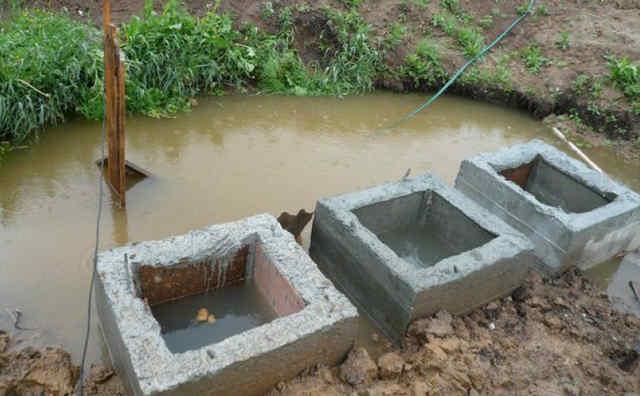 Пример затопления септика