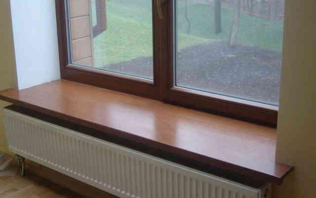 Комплект пластикового окна с подоконником