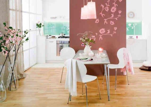 Деление комнаты на кухонную и столовую зоны