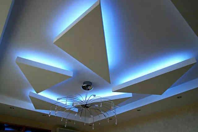 Гипсокартонный многоярусный потолок