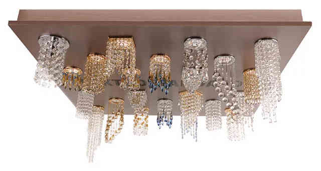 Каскадные светильники для натяжного потолка