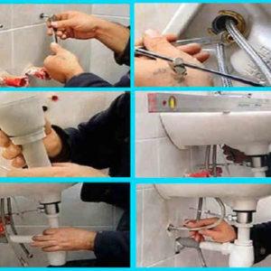 Установка умывальника в ванной комнате