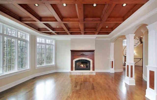 Кессонный потолок из древесины