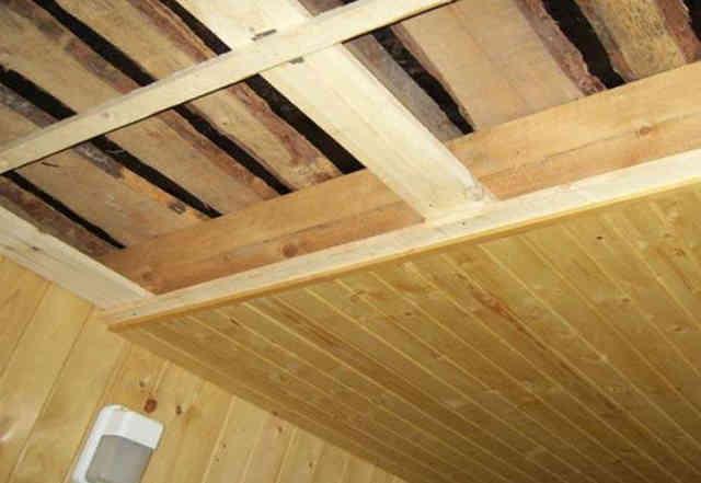 Пример монтажа подшивного потолка