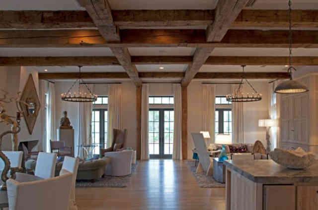 Потолок в частном доме с деревянными перекрытиями