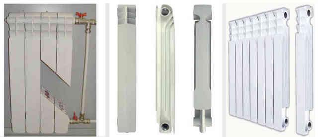 Алюминиевые радиаторы различных модификаций