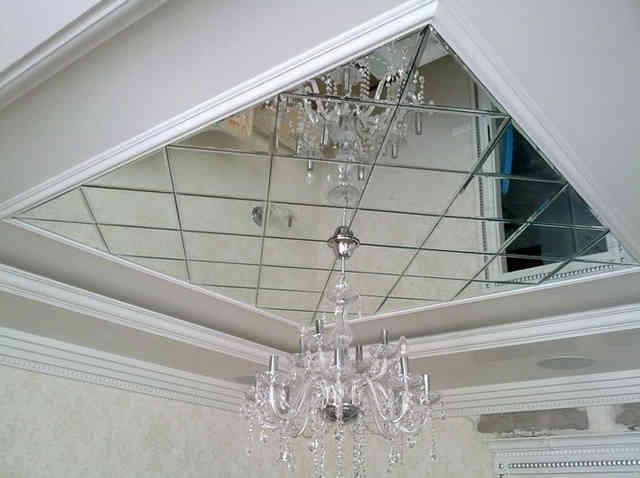 Кассетный зеркальный потолок