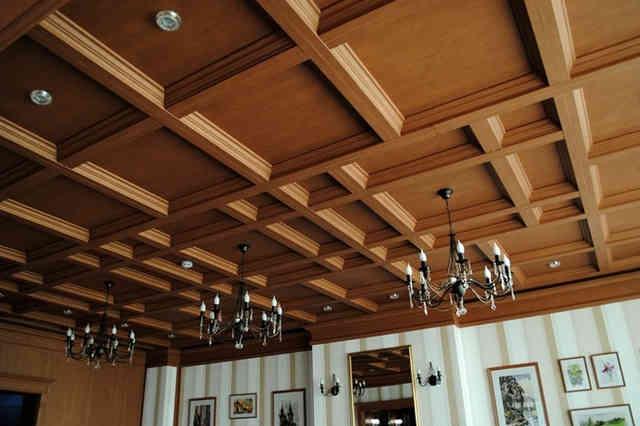 Кессонные потолки в квартире