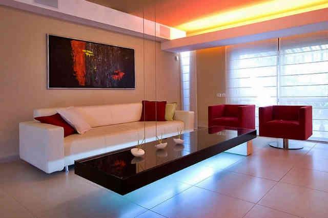 Мебель в интерьере хай-тек