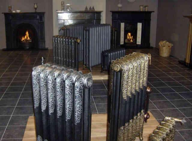 Радиаторы отопления темного окраса