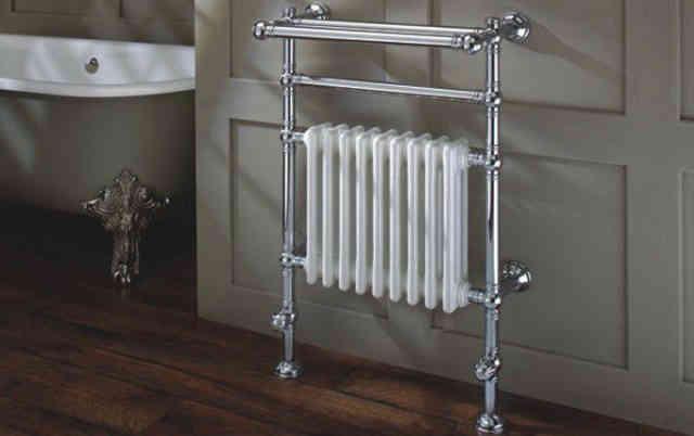 Стильные радиаторы отопления в интерьере ванной комнаты