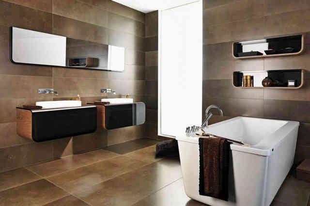 Ванная комната в стиле интерьера хай-тек