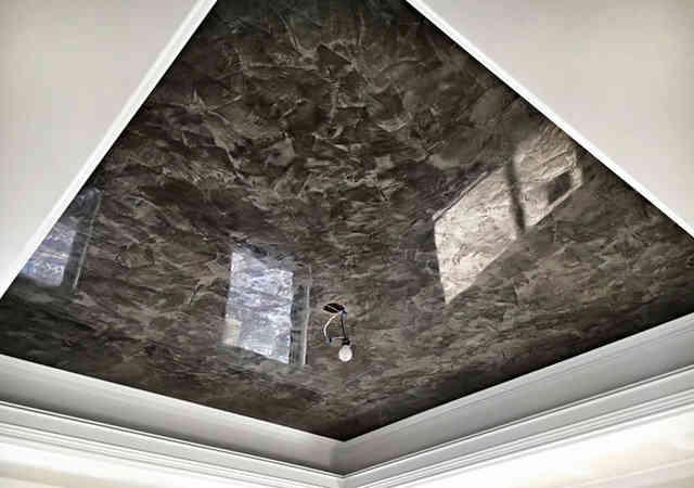 Венецианская штукатурка как элемент многоуровневого потолка